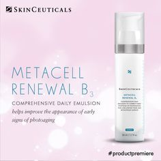 Metacell Renewal B3 utilizes a patent-pending inverse aqueous emulsion to deliver a high concentration of 5% niacinamide combined with 2.5% tightening tri-peptide concentrate and 15% glycerin improve the look of early photoaging.