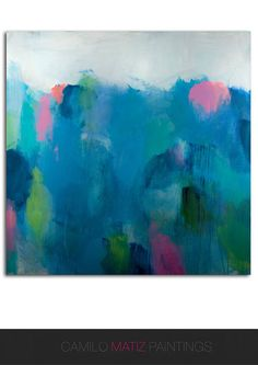 landscape abstract painting acrylic painting abstract art