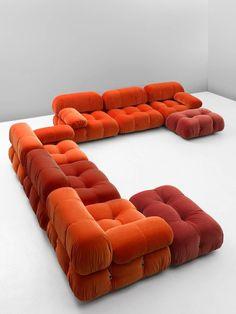Mario Bellini 'Camaleonda' Sofa Reupholstered in Tri-Tone Velvet 4