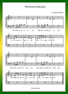 9 Beste Afbeeldingen Van Bladmuziek Kinderliedjes Piano