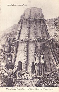 Native Blast Furnace Mission Pere Blancs Tanganyika c1907