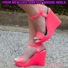 Save The Last Dance Hot Pink Jelly Wedge Sandals With Ankle Strap Wedge Sandals, Wedge Shoes, Shoes Heels, Cute Online Boutiques, Save The Last Dance, Very High Heels, New Fashion Trends, Beach Babe, Sexy Feet