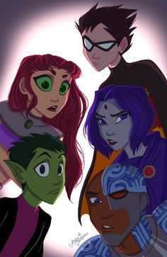 Teen Titans by angiensca