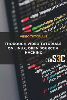 Feb 2020 - Video Tutorials on Linux, Open Source, SysAdmin, Hacking and Infosec! See more ideas about Linux, Open source and Technology. Open Source, Video Tutorials, Linux, Cyber, Hacks, Technology, Tech, Tecnologia, Linux Kernel