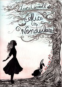 Alice in Wonderland-inspired book cover.  Curiouser and Curiouser by La-Chapeliere-Folle.deviantart.com on @deviantART