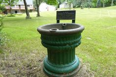 Horse Drinking Fountain, City of Detroit, MI.  Circa 1889, Total of fifty in use in 1900.  For nearly 200 years the only means of transportation on the streets of Detroit was a horse. In 1837 Detroit had four livery stables for horses. In 1860 the Detroit Waterworks survey of the city listed 17 stables. By 1894 it had risen to 82 stables and about 12,000 horses on the streets. By the end of the 1920s, aside from a few peddlers, milk trucks and fire wagons, the horse vanished from the city. Fountain City, Drinking Fountain, Waterworks, Stables, 1920s, Detroit, Michigan, Transportation, Milk