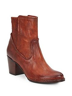 Frye Lucinda Leather Booties