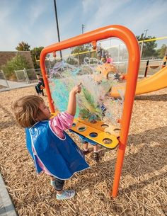 Clear Paint Panel - Polycarb Window & Paints, Low & Accessible for Small Kids - Landscape Structures