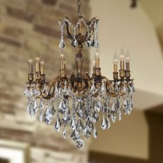 Shop for Versailles Collection 10 Light Antique Bronze Finish and Clear Crystal Chandelier. Get free shipping at Overstock.com - Your Online Home Decor Outlet Store! Get 5% in rewards with Club O!