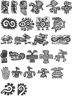 Tattoos Symbole Kitchen Countertops - An Overview Countertops can influence the total design of your Arte Tribal, Aztec Art, Ancient Symbols, Ancient Art, Inka Tattoo, Inca Art, Aztec Symbols, Symbol Tattoos, Mayan Tattoos