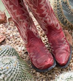 Old Gringo Women's Nevada Cowboy Boots - Red Red Cowgirl Boots, Red Boots, Cowboy And Cowgirl, Old Gringo, Fiery Red, Shoe Boots, Shoes, Nevada, Combat Boots