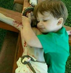 He is hugging a bloody man who is hung by his wrists from a torture device. Pictures Of Jesus Christ, Religious Pictures, Catholic Art, Religious Art, Jean 3 16, Childlike Faith, Jesus Our Savior, Holy Rosary, Blessed Mother Mary