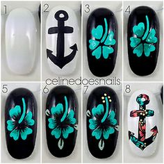 I made a tutorial for the nails I did a few days ago. Full instructions can be found here.