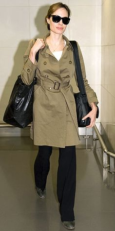 trench coat on Angelina Jolie  source: outfitidentifier.com