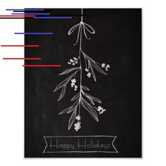 18 Easy Christmas Canvas Painting Ideas for Kids - mybabydoo Christmas Paintings On Canvas, Christmas Canvas, Simple Christmas, Beautiful Christmas, Diy Birthday, Birthday Parties, Christmas Chalkboard, Chalkboard Art, Mistletoe