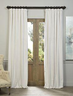Signature Off White Blackout Velvet Curtain - SKU: VPCH-110602 at https://halfpricedrapes.com