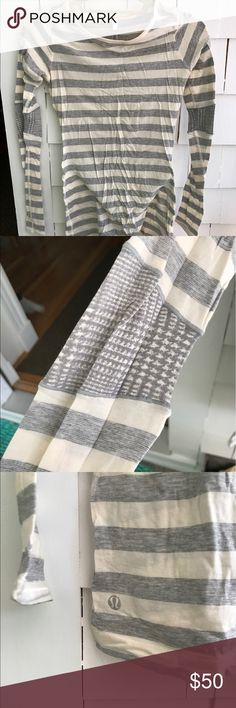 Lululemon long sleeve cotton shirt Excellent condition worn once long sleeve cotton shirt from Lululemon, super soft. lululemon athletica Tops Tees - Long Sleeve
