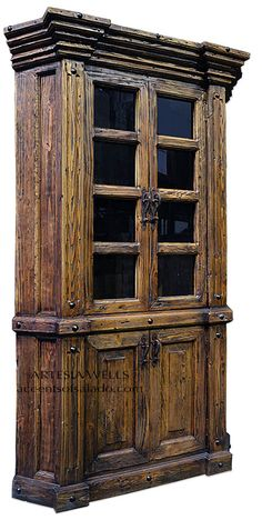 Old Wood Cabinet. One of a Kind online at Accents of Salado.