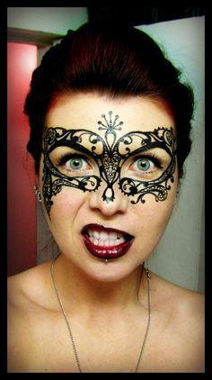 Eyeliner mask... wsh i could find a  little stick on mak
