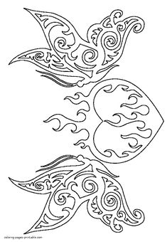 Hearts Coloring Pages for Adults Luxury Burning Heart Coloring Page Skull Coloring Pages, Heart Coloring Pages, Printable Adult Coloring Pages, Coloring Pages To Print, Mandala Coloring, Coloring Books, Coloring Sheets For Kids, Kids Coloring, Colouring Pages For Adults