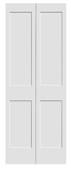 Shaker white primed 4 panel bifold door posts inspiration and interior doors - Shaker bifold closet doors ...