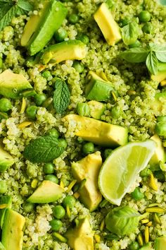 Journey Kitchen: Green Goddess - Quinoa, Avocado, Peas and Pistachio Salad With Coriander Basil Pesto