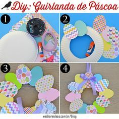 DIY: Easter Wreath – Rebel Without Applause Easter Crafts For Adults, Easter Crafts For Kids, Crafts To Do, Paper Crafts, Wreath Crafts, Easter Activities, Craft Activities, Valentine Day Crafts, Holiday Crafts