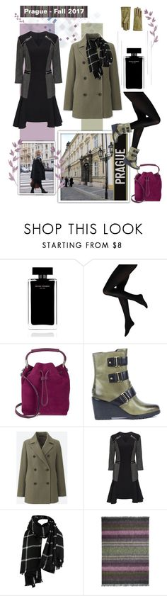 """""""Fall Travel Wear for Prague"""" by pulledtogether ❤ liked on Polyvore featuring Narciso Rodriguez, H Halston, SOREL, Uniqlo, Lattori and Designers Guild"""