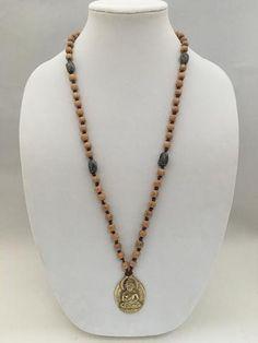 Cocowood & Porcelain on Vegan Suede Necklace