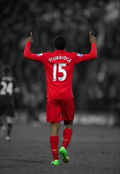 Daniel Sturridge celebrates his first goal for Liverpool (vs Mansfield Town, FA Cup)