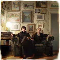 Sherlock and John by hoo0.deviantart.com on @deviantART