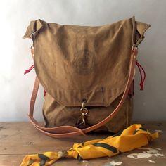 handmade vintage boy scout pack cross body bag / by elke
