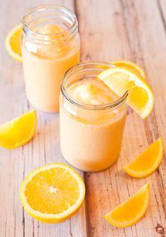 Homemade orange push-up smoothie. YUM!
