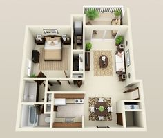 Three Oaks Apartments in Troy, MI | Floor Plans
