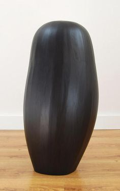 "Wood Sculpture by Steve Bartlett ""Seedling II"", 44 X 21 X 21"", stained ash, 2013"