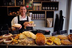 Tim from Sweetbrew on George Street, Launceston. They also stock Manu breads and pastries to go with their fabulous coffee.  Photo TNT and Chris Crerar.