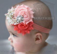 He encontrado este interesante anuncio de Etsy en https://www.etsy.com/es/listing/116167258/baby-headbands-coral-pink-vintage