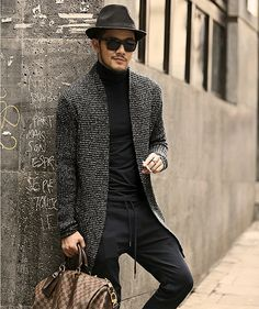 18 Incredible Cardigan Fashion For Cool Men Style Ideas – Design & Decor Mens Fashion Sweaters, Cardigan Fashion, Long Sleeve Sweater, Men Sweater, Mohair Sweater, Hipster Sweater, England Fashion, Fashion Night, Punk Fashion