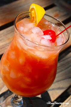 Bahama Mama (1/2oz each of dark rum, light rum or coconut rum, 151proof rum, Kahlua, 1oz lemon juice, 3oz pineapple juice.)