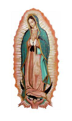 Virgen de Guadalupe -fondoblanco