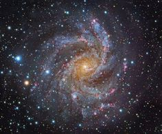 The Fireworks Galaxy - with high birth and death rate of stars.