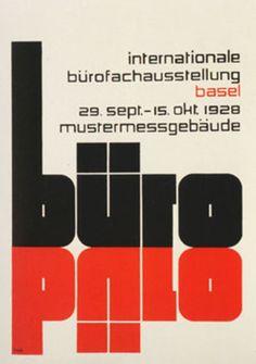 """""""Buro"""" from Hoffmanns, Theo Balmer, Basel """"Innenplakat für eine… Typography Logo, Graphic Design Typography, Modern Graphic Design, Graphic Design Inspiration, Basel, International Typographic Style, Swiss Style, Max Bill, Swiss Design"""