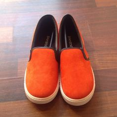 Shoes Orange faux suede shoes nwt Bamboo Shoes