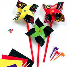 Scratch Art Windmill Craft Kit for Kids