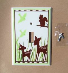 WILLOW DEER SWITCH PLATE COVER....I still really love the willow deer nursery theme