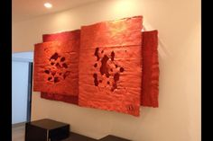 """3red"" installation with juta  240x140 cm"