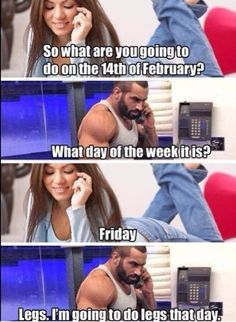 The downside of dating someone you met at the gym.
