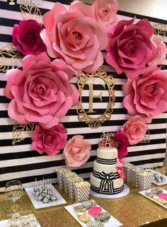 Kate Spade Inspired Paper Flowers Bridal Shower Decor Photo