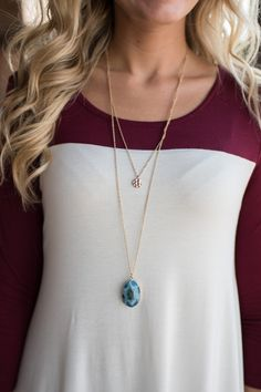 Pink Slate Boutique - Dual Intentions Necklace, $12.00…