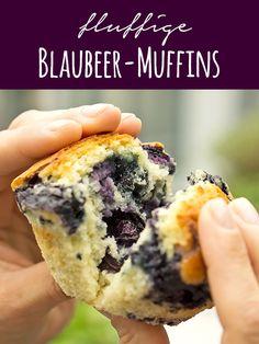 Locker fluffige Blaubeer-Muffins   Madame Cuisine Rezept